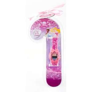 DISNEY PRINCESS LCD DIGITAL WATCH IN CANDY CANE PACKAGE