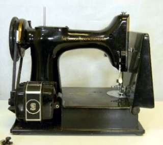 Singer Featherweight sewing machine 221 with 8 Attachments SN AH057624