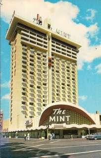 THE MINT HOTEL & CASINO LAS VEGAS POSTCARD 1971 TOWER
