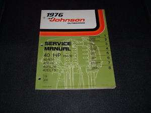 1976 40hp Johnson Outboard Repair Manual Evinrude 40 hp