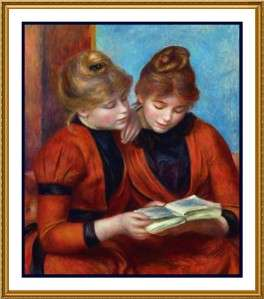 Impressionist Renoir The Two Sisters Counted Cross Stitch Chart