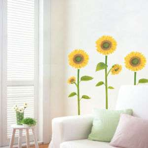 SUNFLOWER II   Mural Art DIY Wall Decor Sticker Paper