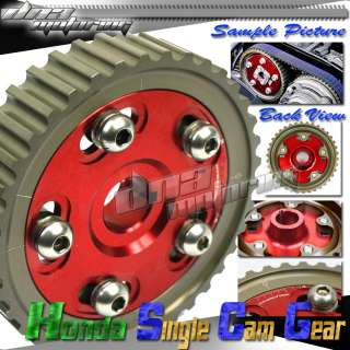 JDM RED D SERIES SOHC ADJUSTABLE CAM GEAR CIVIC/CRX/ EG