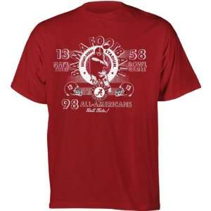Alabama Crimson Tide Football Diode Retro Graphic Stat T Shirt