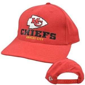 NFL Kansas City Chiefs Red Black Vintage Old School Flat Bill Snapback