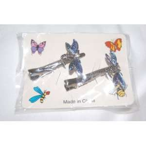 Dark Blue & Light Blue Two Colored Winged Floating Dragonflies on 2