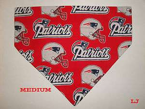 Over Collar Slide On Pet Dog Cat Bandana Scarf New England Patriots