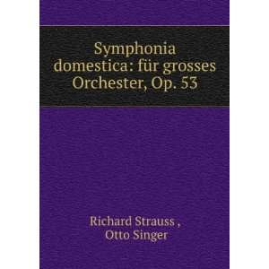 für grosses Orchester, Op. 53 Otto Singer Richard Strauss  Books