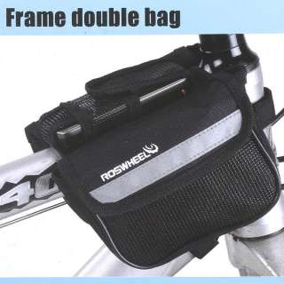 Bicycle Bike Cycling Sport Frame Front Tube Double Side Seat Bag