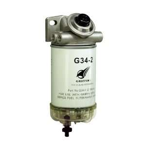 Griffin GP341 2 Spin On Fuel Filter / Water Separator Automotive