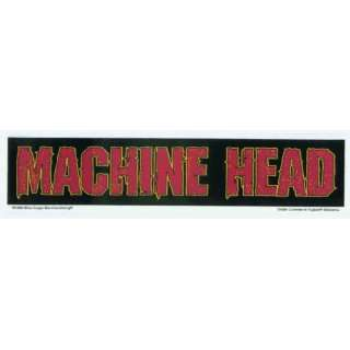 Machine Head   Red on Black Rectangle Logo   Sticker
