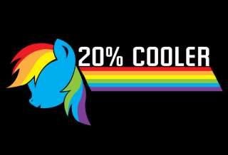 My Little Pony Friendship is Magic Rainbow Dash 20% Cooler Vinyl Decal
