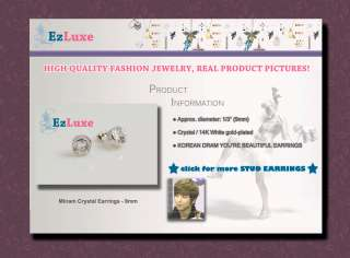 Korean drama YOURE BEAUTIFUL CNBlue 9mm Round Earrings