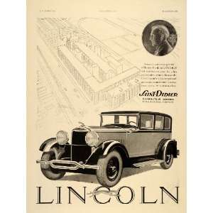 1930 Ad French Lincoln Henry Ford Didier Car Coin Sedan