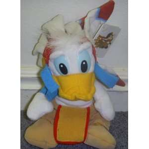 com Retired Donald Duck Disney Native American Indian 8 Plush Donald