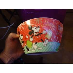 Christmas Melamine Cereal Soup Bowl Mickey Minnie Donald Pluto Goofy