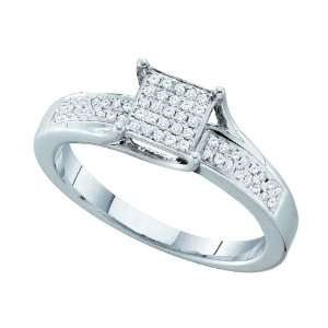 Sterling Silver 0.15 Dwt Diamond Micro Pave Set Ring