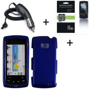 Hard Protector Case + Screen Protector + Car Charger for LG VS740 Ally