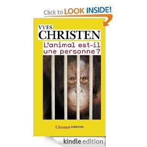 animal est il une personne ? (Champs sciences) (French Edition