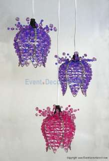Pink and Purple Flowers Acrylic Crystal Chandelier Wedding Party
