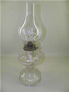 VICTORIAN EAGLE PRESSED GLASS OIL LAMP WITH SHADE