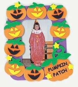 Pumpkin Patch Foam Photo Frame Magnet Kit Craft Fall Thanksgiving