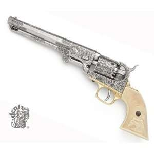 NAVY PISTOL ENGRAVED SILVER FINISH NON FIRING REPLICA GUN Everything
