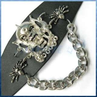 Gothic Punk Mental Studded Leather Wristband Bracelet
