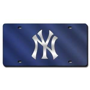 New York Yankees Blue License Plate Laser Tag Sports