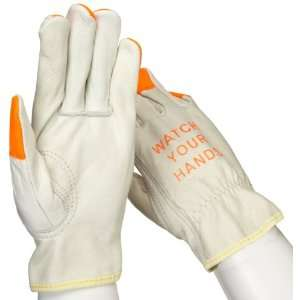 West Chester 990KOT Leather Glove, Shirred Elastic Wrist Cuff, 8.5