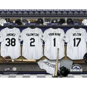 Personalized Colorado Rockies Locker Room Print Sports