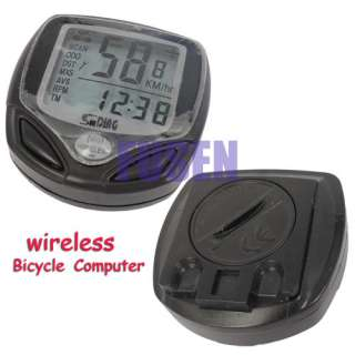 WIRELESS CYCLE COMPUTER SPEEDOMETER BIKE BICYCLE METER