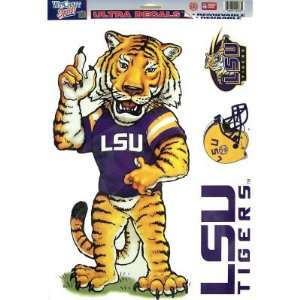 LSU TIGERS MASCOT REMOVABLE CAR TRUCK WINDOW WALL DECAL SET (4