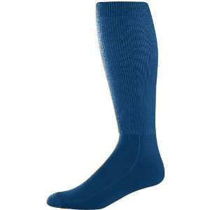 Adult Wicking Athletic Soccer Socks NAVY ADULT (TUBE SOCK SIZE 10 13