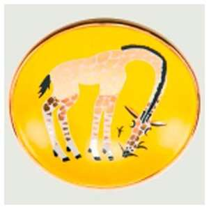 Waylande Gregory Giraffe Eating Grass Bullet Bowl   yellow