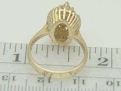 14K Yellow Gold Blue Sapphire & .50ct Diamond Ring
