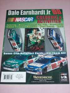 Dale Earnhardt Jr NASCAR Coloring Book w Markers 96 pgs