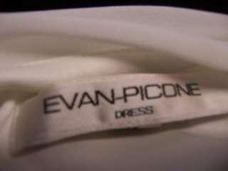 EVAN PICONE Black/Ivory Flutter Sleeve Evening Cocktail Dress 14 NWT