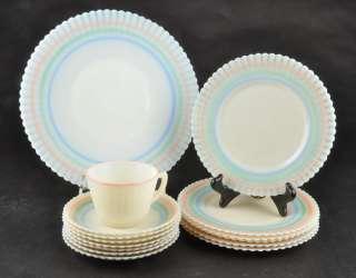15pc Lot Macbeth Evans Petalware Cremax Beige Pastel Platter Plates