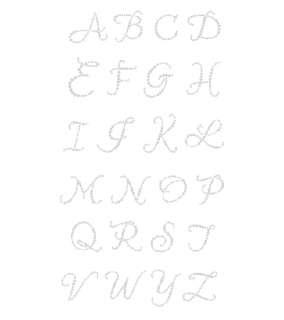 48)Rhinestone Monogram Stickers Wedding Bridal Shower