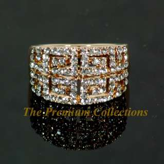 Ring Luxury w Swarovski Crystal 18K Rose Gold Plated