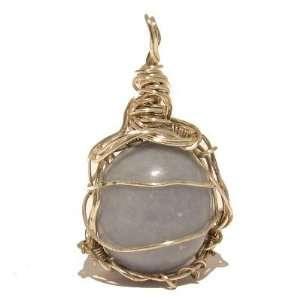 01 Crystal Blue Wire Wrap Silver Stone Throat Chakra 2 Jewelry