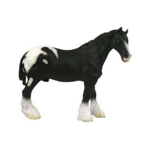 X Large Shire Horse Black Pinto Figure Toys & Games