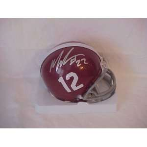 Mark Ingram Jr Hand Signed Autographed Alabama NCAA Football Riddell