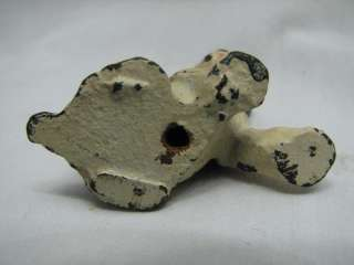 CAST IRON BOSTON TERRIER DOG PAPERWEIGHT ACCESSORY FIGURE PAINTED