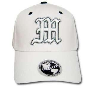 NCAA MANHATTAN COLLEGE JASPERS WHITE CAP HAT FLEX FIT