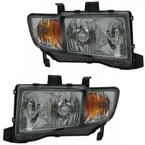 06 08 Honda Ridgeline Pickup Truck Headlights Headlamps Head Lights