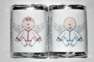 60 BAPTISM CHRISTENING CANDY WRAPPERS PARTY FAVORS