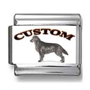 Flat Coated Retriever Dog Custom Photo Italian Charm