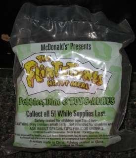 McDonalds 1994 Flintstones Pebbles, Dino & Toy S Aurus